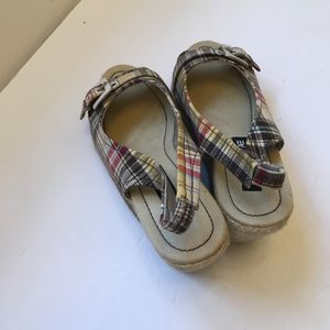 American Eagle Outfitters Shoes - AMERICAN EAGLE MADRAS ESPADRILLE WEDGES
